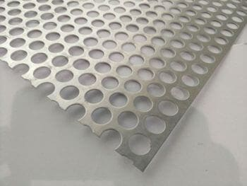 "12/"" x 36/"" 1//2/"" hole 11//16/"" Stagger Perforated Metal Aluminum Sheet  1//8/"" Thick"